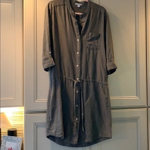 Standard James Perse olive drab linen dress